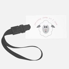Counting Sheep Luggage Tag