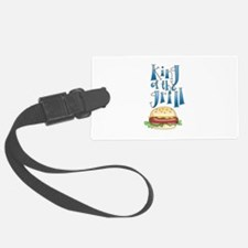 King Of The Grill Burger Luggage Tag