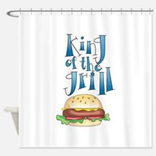 King Of The Grill Burger Shower Curtain