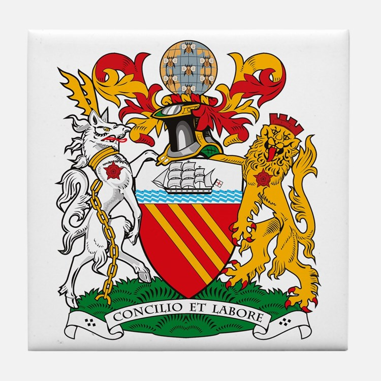 Manchester Coat of Arms Tile Coaster