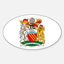 Manchester Coat of Arms Oval Decal