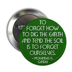 Gandhi on the Growing Earth Button