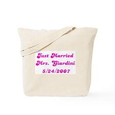Just Married  Mrs. Giardini   Tote Bag