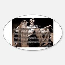 Gettysburg Address Sticker (Oval)
