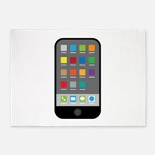 Smart Phone 5'x7'Area Rug