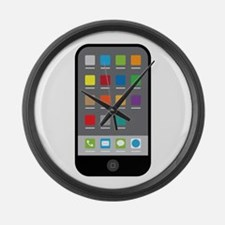 Smart Phone Large Wall Clock