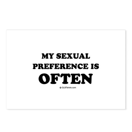 My sexual preference is often Postcards (Package o