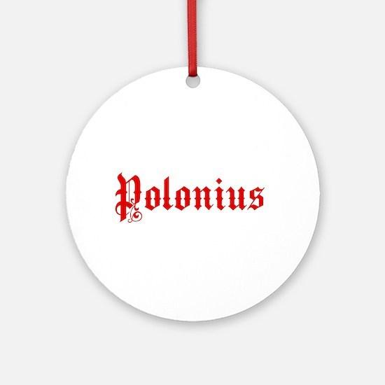 Polonius Ornament (Round)