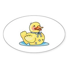 RUBBER DUCK ON WATER Decal