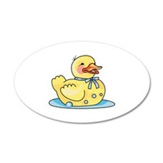 RUBBER DUCK ON WATER Wall Decal