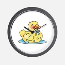 RUBBER DUCK ON WATER Wall Clock