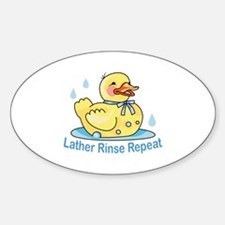 LATHER RINSE REPEAT Decal