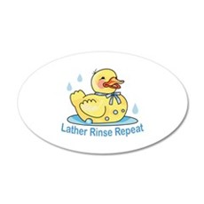 LATHER RINSE REPEAT Wall Decal