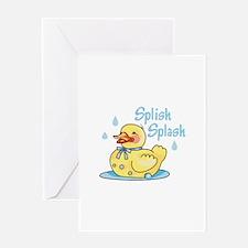 SPLISH SPLASH Greeting Cards