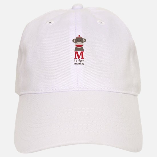 M Is For Monkey Baseball Baseball Baseball Cap