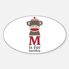 M Is For Monkey Decal