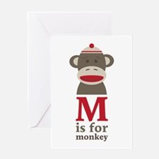 M Is For Monkey Greeting Cards