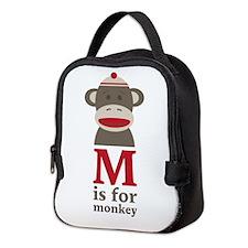 M Is For Monkey Neoprene Lunch Bag