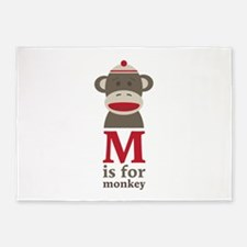 M Is For Monkey 5'x7'Area Rug