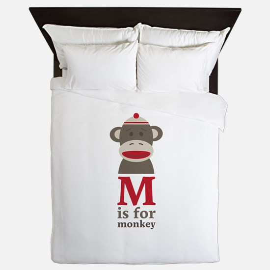 M Is For Monkey Queen Duvet
