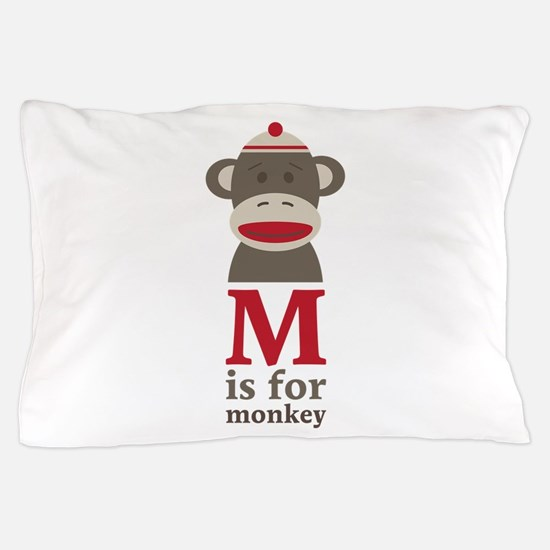 M Is For Monkey Pillow Case