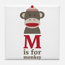 M Is For Monkey Tile Coaster