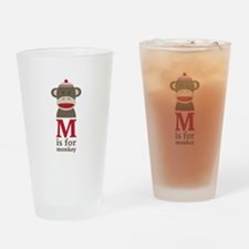 M Is For Monkey Drinking Glass