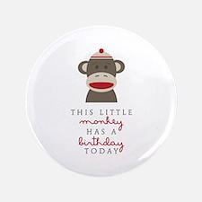 "Monkey Birthday 3.5"" Button"