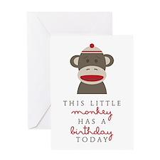 Monkey Birthday Greeting Cards