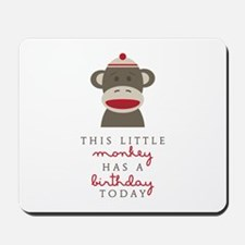 Monkey Birthday Mousepad