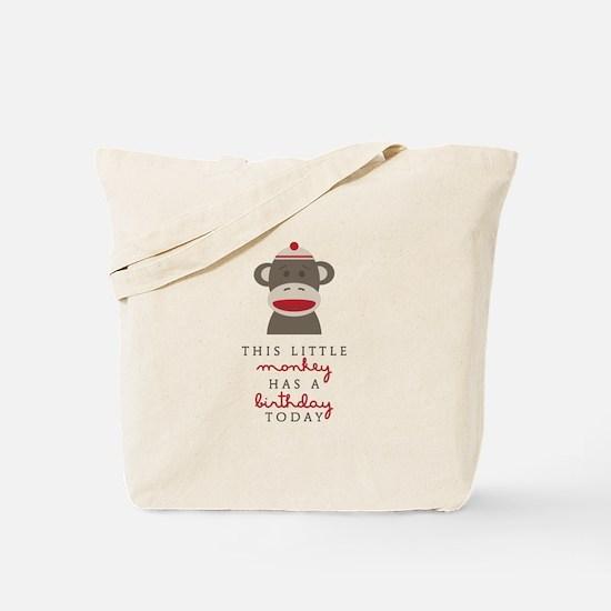 Monkey Birthday Tote Bag