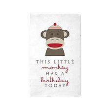 Monkey Birthday Area Rug