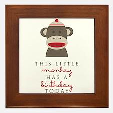 Monkey Birthday Framed Tile