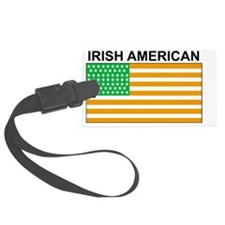 Irish American Flag 3 Luggage Tag