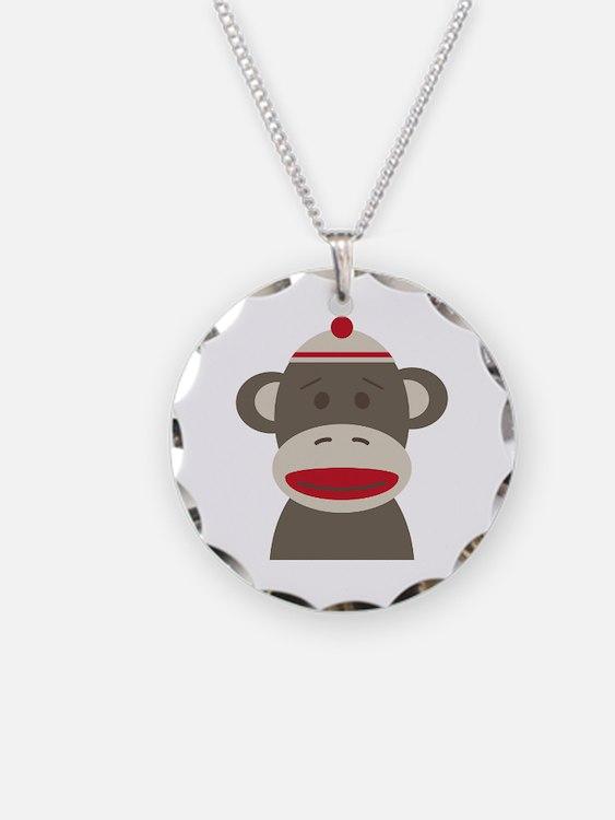 Sock Monkey Necklace