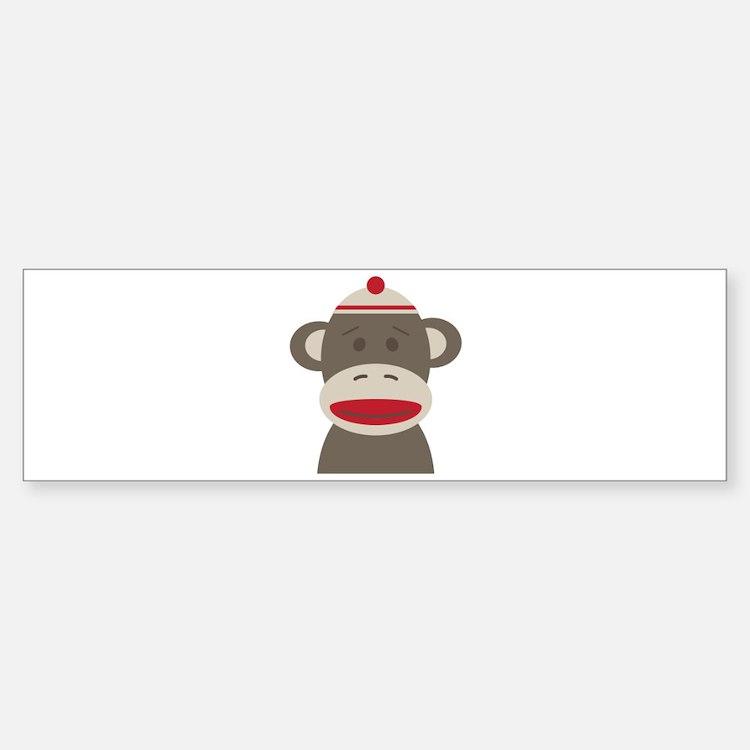 Sock Monkey Bumper Bumper Bumper Sticker