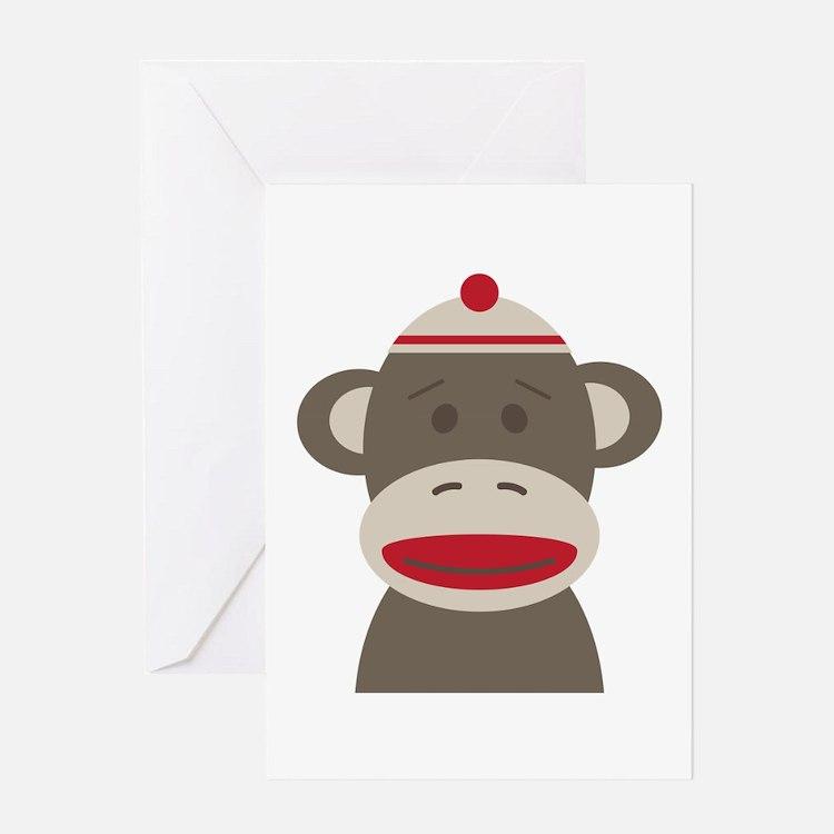 Sock Monkey Greeting Cards
