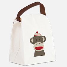 Sock Monkey Canvas Lunch Bag