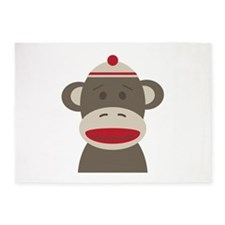 Sock Monkey 5'x7'Area Rug