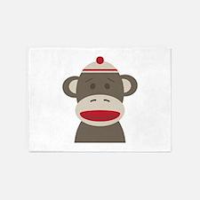 Sock Monkey 5'x7'Area Rug