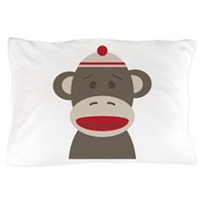 Sock Monkey Pillow Case