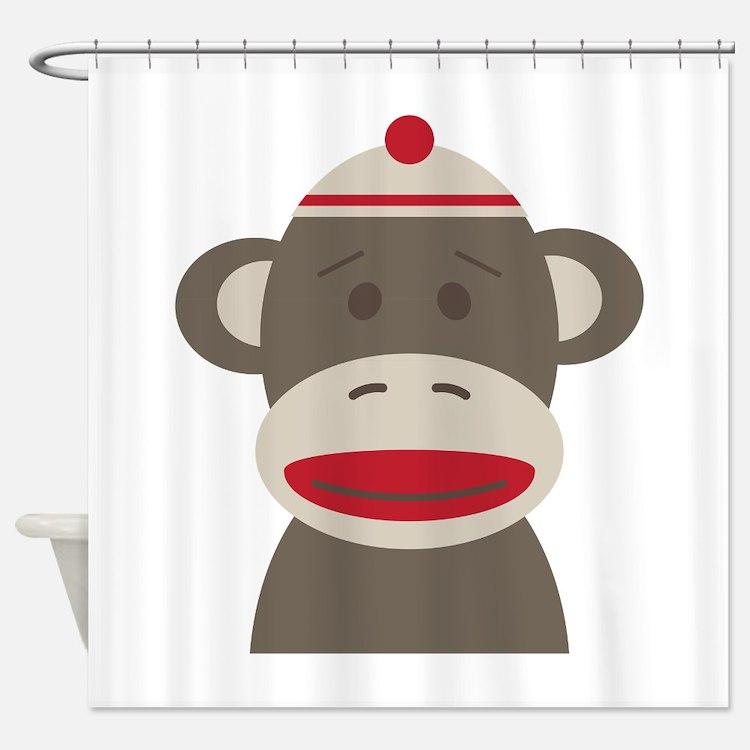Sockmonkey bathroom accessories decor cafepress for Monkey bathroom ideas