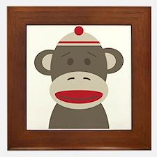 Sock Monkey Framed Tile