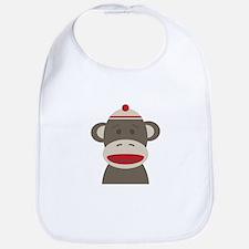 Sock Monkey Bib