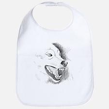 Wolf Sketch Bib