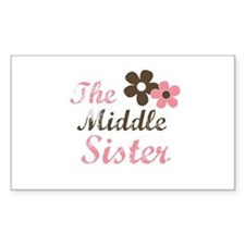 the middle sister pink brown flower Decal