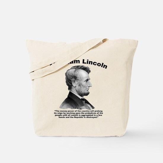 Lincoln: Money Tote Bag