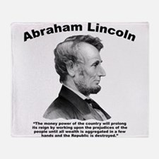 Lincoln: Money Throw Blanket