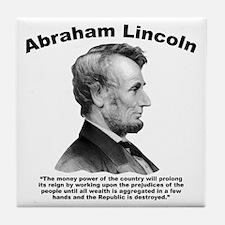 Lincoln: Money Tile Coaster