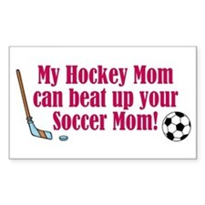 Hockey Mom - Rectangle Decal